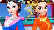 Игра Холодное сердце: Китайская мода Эльзы и Анны