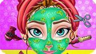 Игра Холодное сердце: Королевская прическа Анны