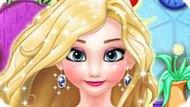Игра Холодное сердце: Красить волосы Эльзе