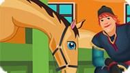 Игра Холодное сердце: Кристоф убирает в конюшне