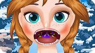 Игра Холодное сердце: Лечить горло Анне