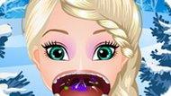 Игра Холодное сердце: Лечить горло Эльзе