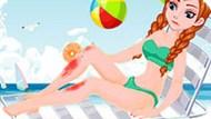 Игра Холодное сердце: Лечить ноги принцессе Анне