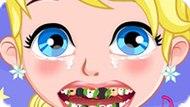 Игра Холодное сердце: Лечить зубы малышке Эльзе