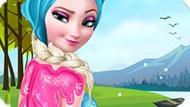 Игра Холодное сердце: Ледяной макияж Эльзы