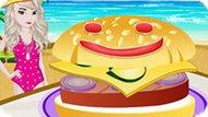 Игра Холодное сердце: Летний бургер от Эльзы