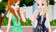 Игра Холодное сердце: Летний образ Эльзы и Анны