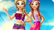 Игра Холодное сердце: Летний отпуск Эльзы и Анны