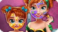 Игра Холодное сердце: Макияж Анны и дочери