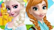Игра Холодное сердце: Макияж Анны и Эльзы