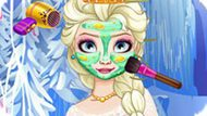 Игра Холодное сердце: Макияж для королевы Эльзы