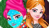 Игра Холодное сердце: Макияж подростка Эльзы