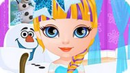 Игра Холодное сердце: Малышка Барби в парикмахерской
