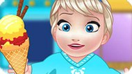 Игра Холодное сердце: Малышка Эльза делает мороженое