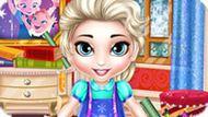 Игра Холодное сердце: Малышка Эльза готовится к школе