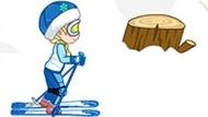 Игра Холодное сердце: Малышка Эльза катается на лыжах