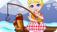 Игра Холодное сердце: Малышка Эльза ловит рыбу