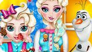 Игра Холодное сердце: Малышка Эльза проказница
