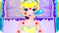 Игра Холодное сердце: Малышка Эльза страдает от кори