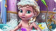 Игра Холодное сердце: Малышка Эльза в ванной