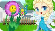 Игра Холодное сердце: Малышка Эльза выращивает цветок