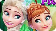 Игра Холодное сердце: Микияж Эльзы и Анны