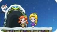 Игра Холодное сердце на двоих: Эльза и Анна ищут конфеты