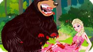 Игра Холодное сердце: На Эльзу напал медведь