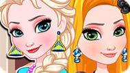 Игра Холодное сердце: Наряды Эльзы и Рапунцель
