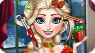Игра Холодное сердце: Новогодние прически Эльзы