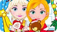Игра Холодное сердце: Новогодний шоппинг Эльзы и Анны