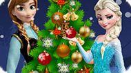 Игра Холодное сердце: Новогодняя елка Эльзы и Анны