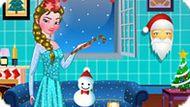 Игра Холодное сердце: Новогодняя комната Эльзы