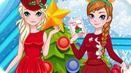 Игра Холодное сердце: Новогодняя вечеринка Эльзы и Анны