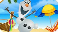 Игра Холодное сердце одевалка: Олаф на пляже