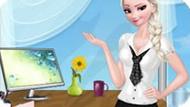 Игра Холодное сердце: Офисный стиль Эльзы