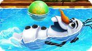 Игра Холодное сердце: Олаф плавает в бассейне