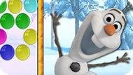 Игра Холодное сердце: Олаф стрелок пузырями