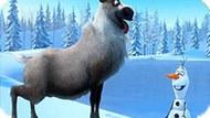 Игра Холодное сердце пазл: Олаф и Свен