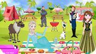Игра Холодное сердце: Пикник Эльзы и Анны