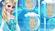 Игра Холодное сердце: Плетеные прически для Эльзы