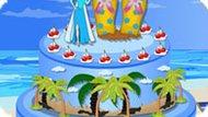 Игра Холодное сердце: Пляжный торт Эльзы