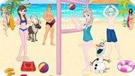 Игра Холодное сердце: Пляжный волейбол