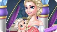 Игра Холодное сердце: Постаревшая Эльза ухаживает за малышом