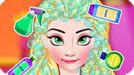Игра Холодное сердце: Прическа королевы Эльзы