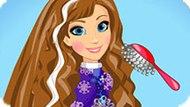 Игра Холодное сердце: Прически Анны