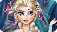 Игра Холодное сердце: Прически Эльзы