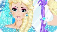 Игра Холодное сердце: Прически принцессы Эльзы