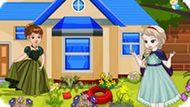 Игра Холодное сердце: Принцессы убирают в саду