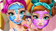 Игра Холодное сердце: Реальный макияж Эльзы и Анны